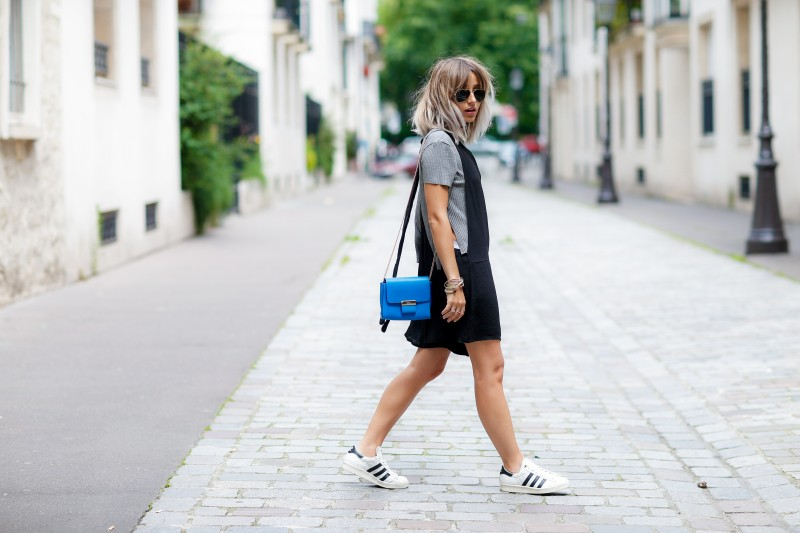 Street style, Noholita (blogger) arriving at Y3 Spring-Summer 2017 menswear show held at ENSCI Les Ateliers, in Paris, France, on June 26th, 2016. Photo by Marie-Paola Bertrand-Hillion/ABACAPRESS.COM