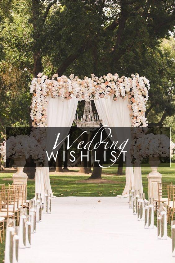 #WEDDING WISHLIST