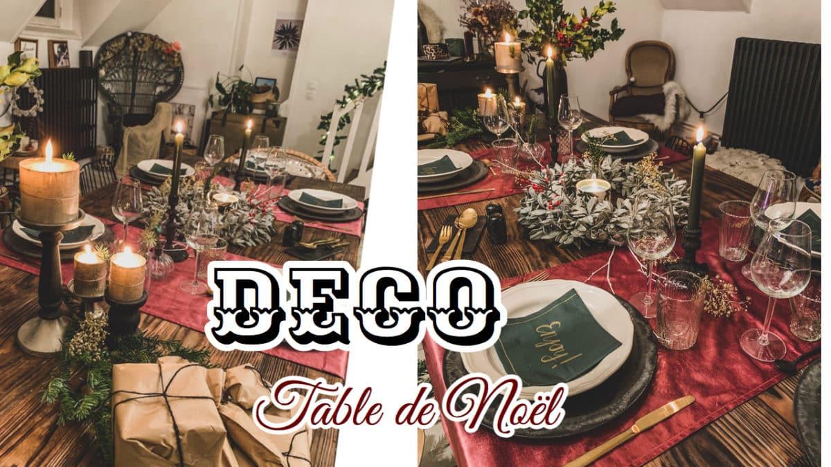 VIDEO : DECO DE MA TABLE DE NOËL – N O H O L I T A